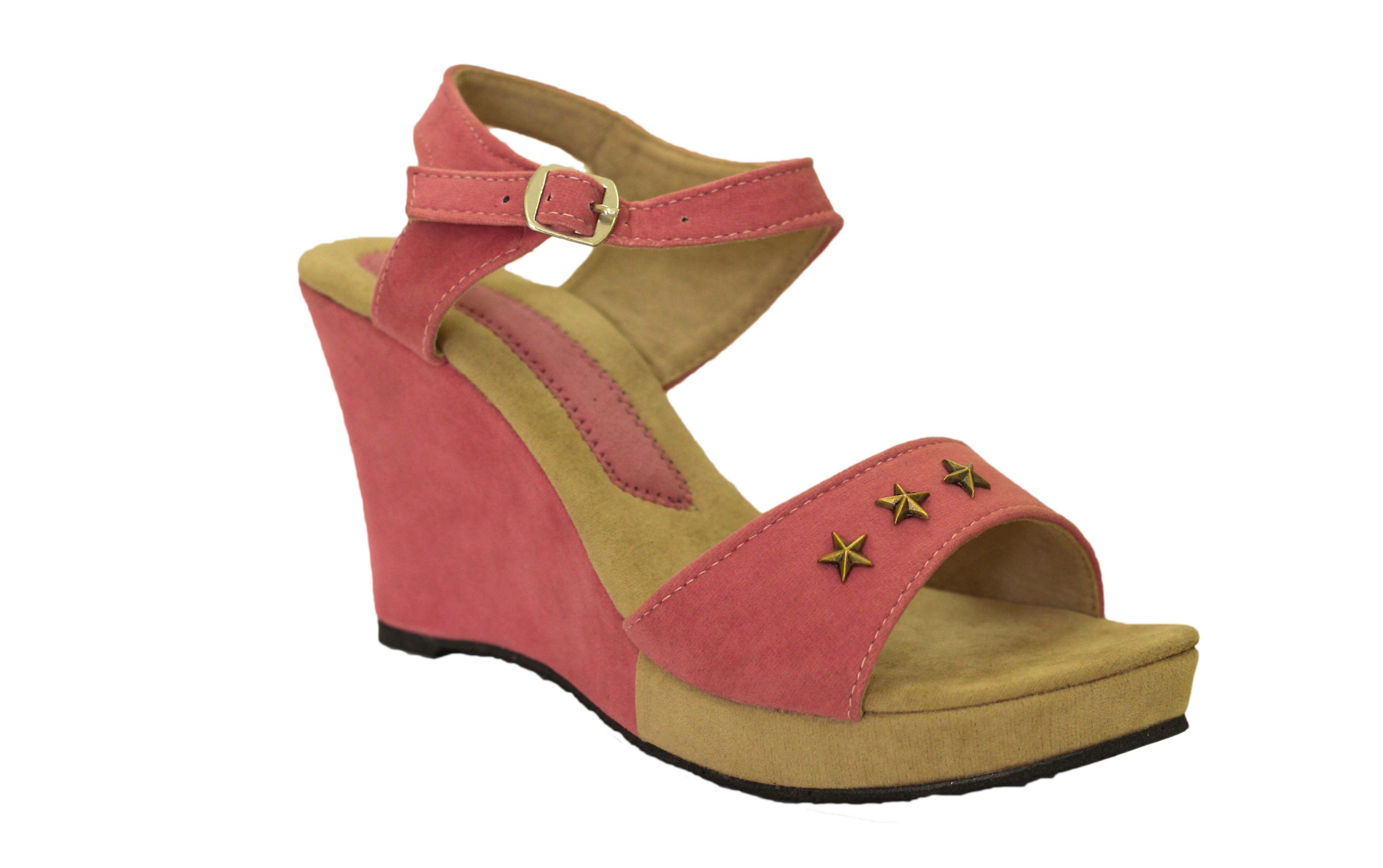 Hansx Girls Pink Heels wedges Sandal i-7-Pink