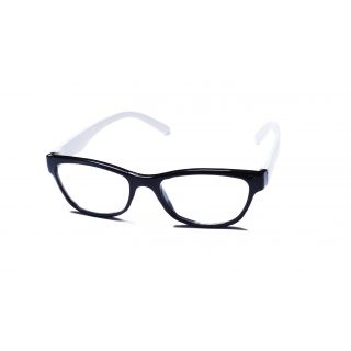 Super Traders St Black Frame And White Temple  Combination Spectacle Frames For Womens-Stfrm098