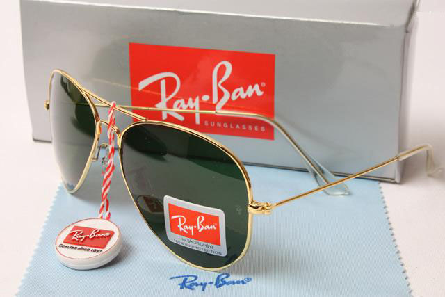 f321aac9549a ray ban aviator black lens gold frame