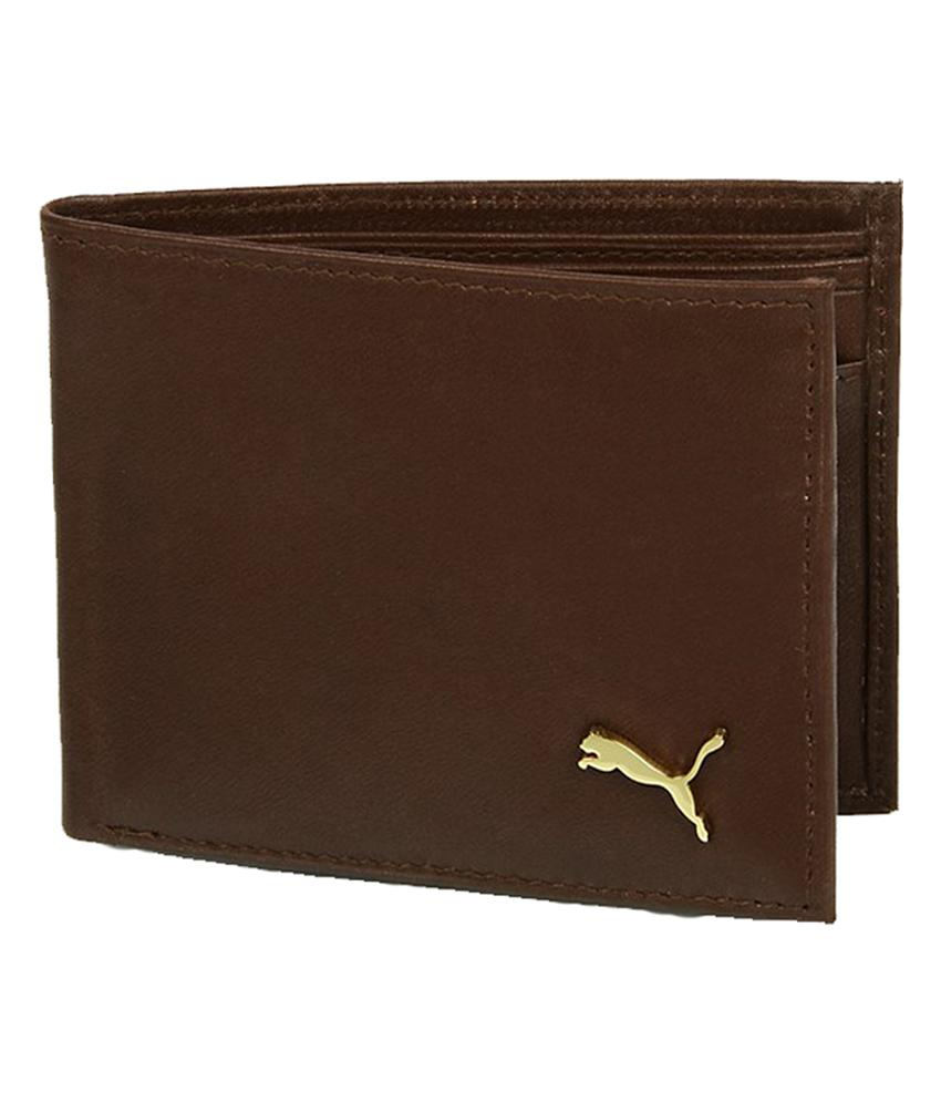 Buy Puma Brown Leather Wallet Online In India 91350800