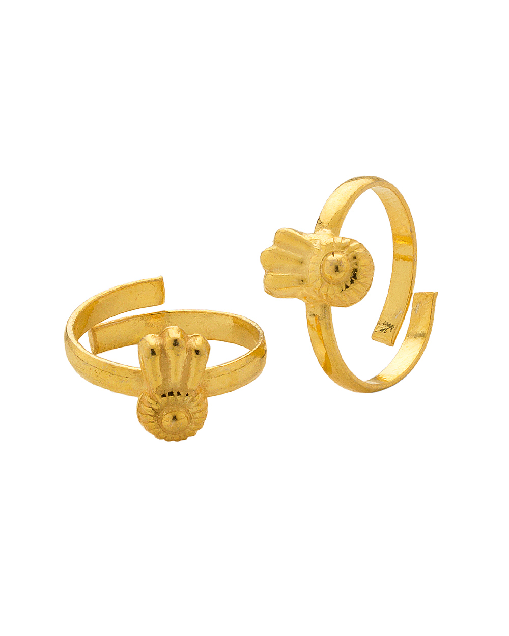 Toe Rings Designs in Gold Gold Plating Toe Ring Pair
