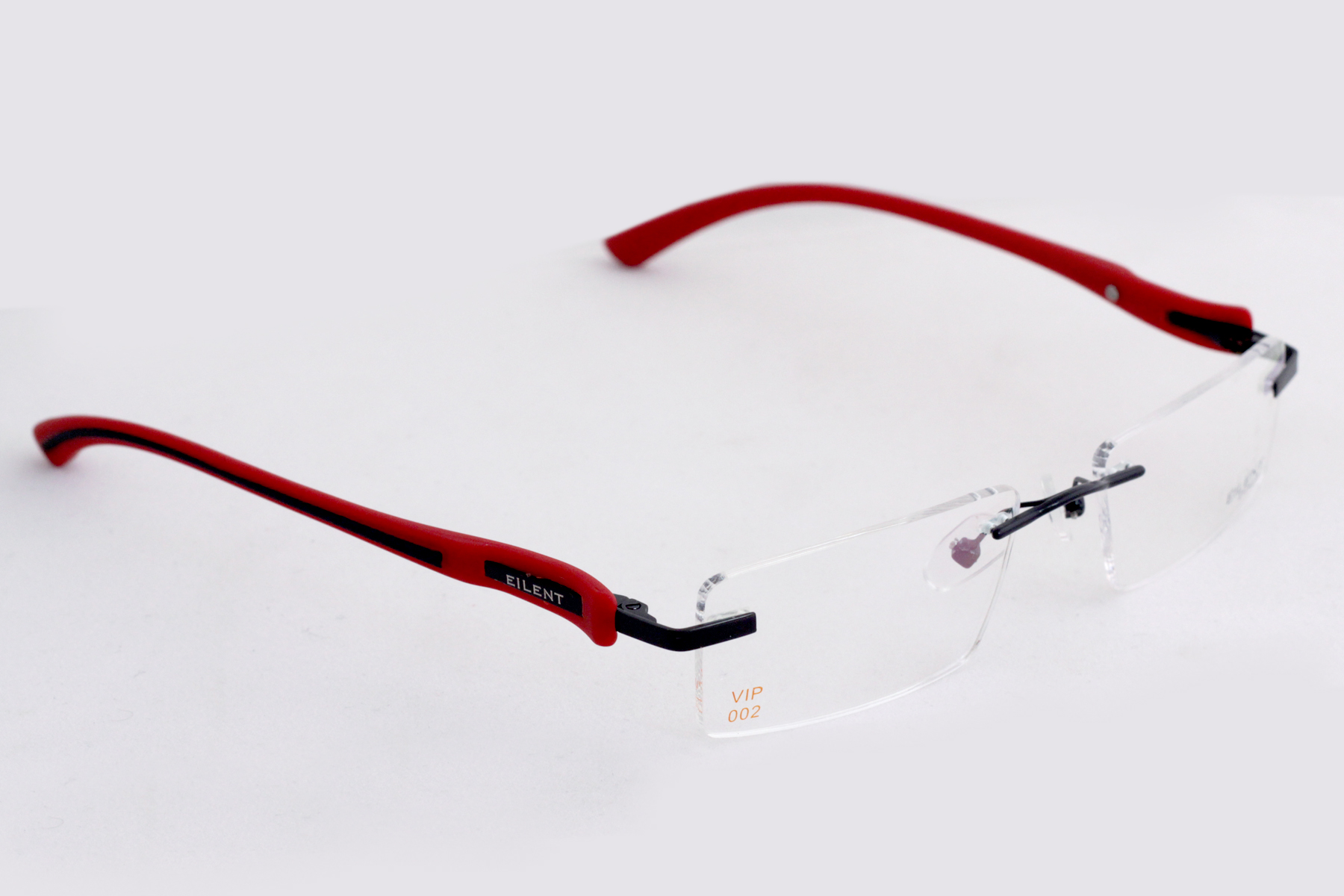 Red Rimless Glasses : Spectacles Frames Eyewear frames(Eilent) Rimless In Red ...