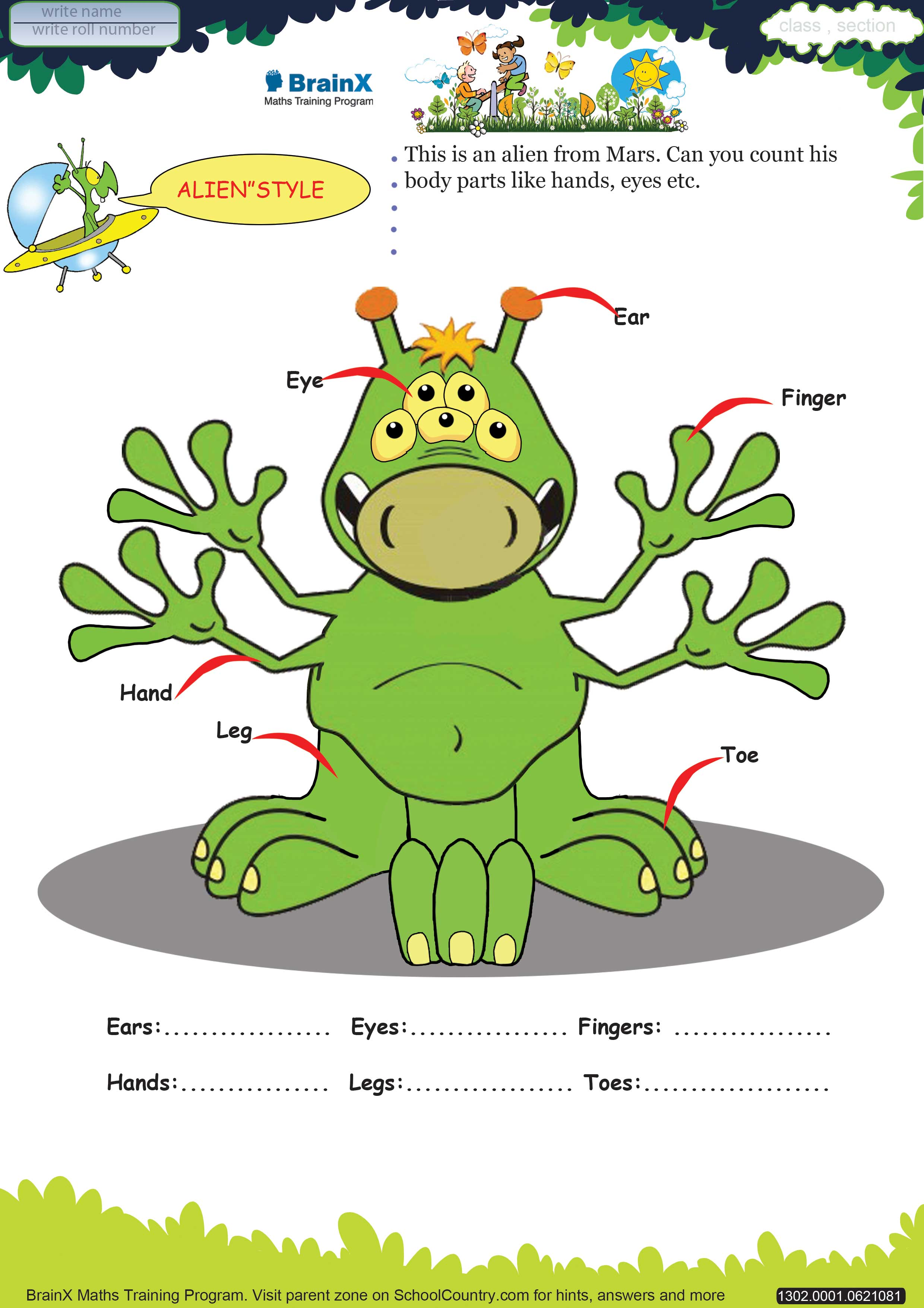 BrainX_LKG_Mini--Math Worksheets for LKG