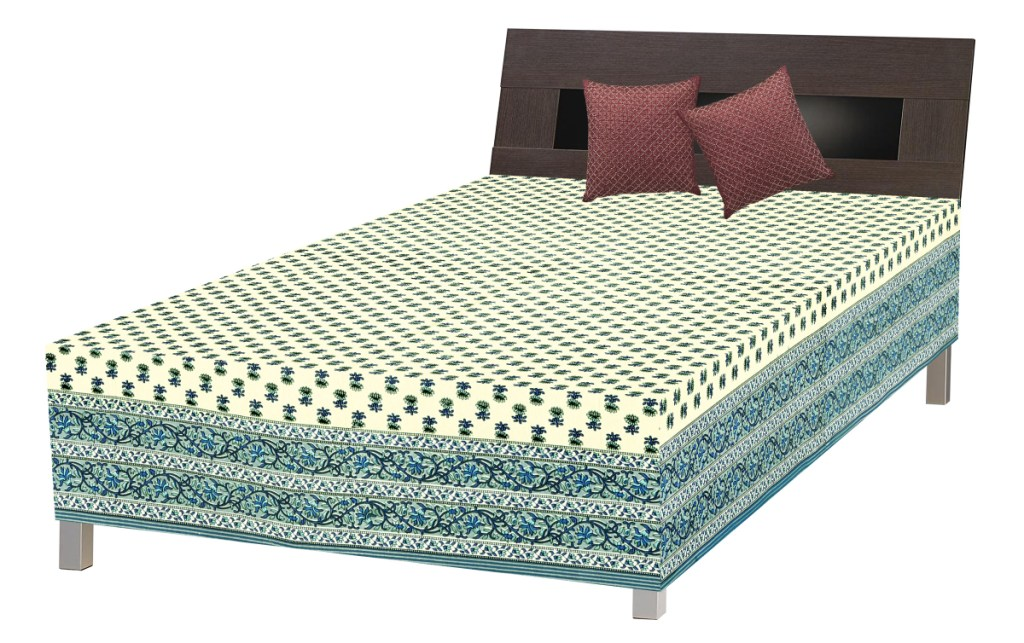 Jaipuri Single Bed Stylish Cotton Sheet SRB2048 Prices In