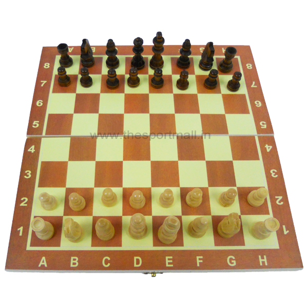 Wooden Chess Board Game With 32 Wooden Chess Coins