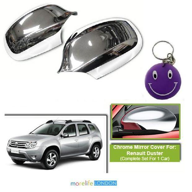 renault duster chrome side mirror cover set of 2 pieces. Black Bedroom Furniture Sets. Home Design Ideas