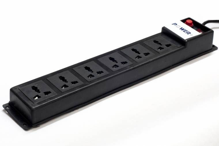 Electric Power Spike : Power extension spike guard with universal socket meter
