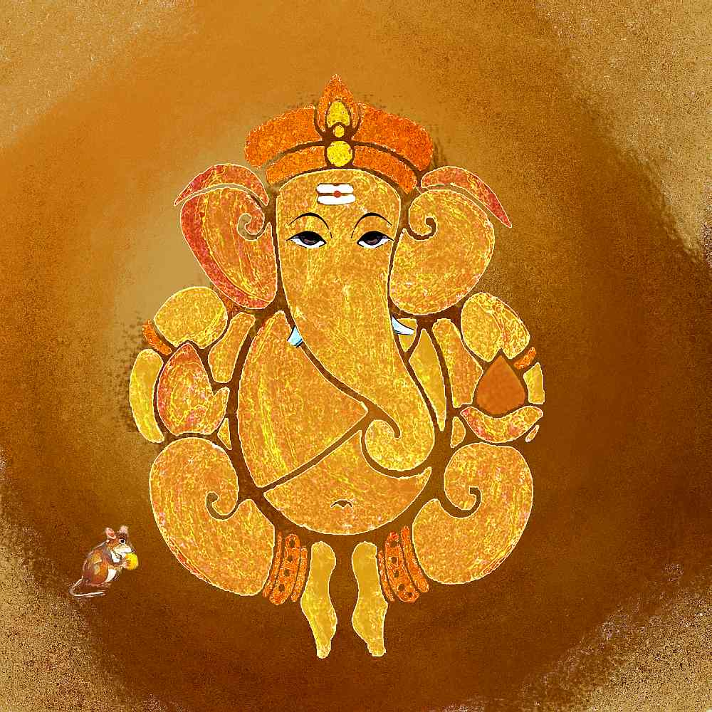 Lord Ganesha Paintings Art Canvas Art of Lord Ganesha