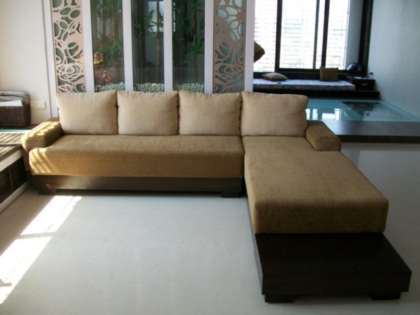 Wooden L Shape Sofa Set - klejonka