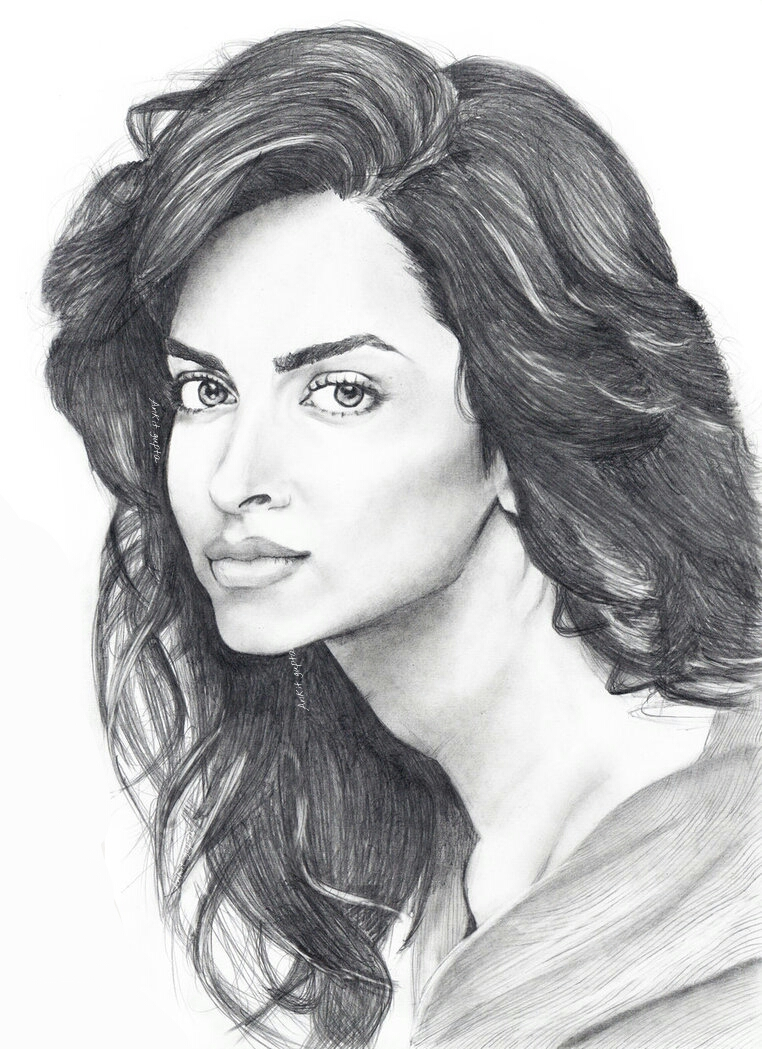 Deepika Padukone Pencil Shading Sketch In India - Shopclues Online