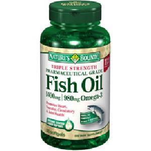 Natures bounty triple strength fish oil 1400mg 30softgel for Nature s bounty fish oil