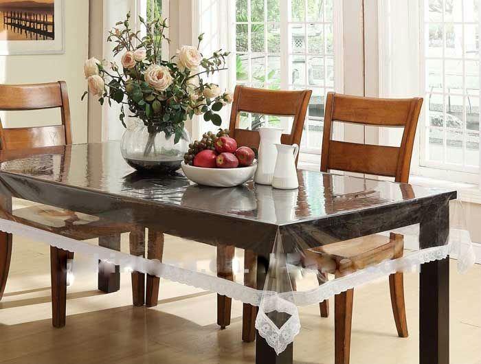 expressions transparent dining table cover. Black Bedroom Furniture Sets. Home Design Ideas