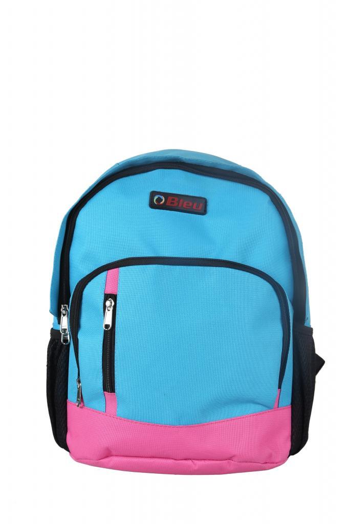 School bag online price - Bleu Colorful Sky Blue Amp Pink School Bag Medium 15 Inches