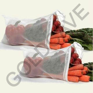 9 Pcs Multipurpose Fridge Storage Zipper Bags for Fruits and Vegetables at shopclues