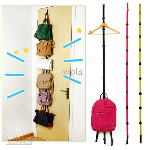 16pcs adjustable bag rack over door with up down hook hat for Hooks to hang purses