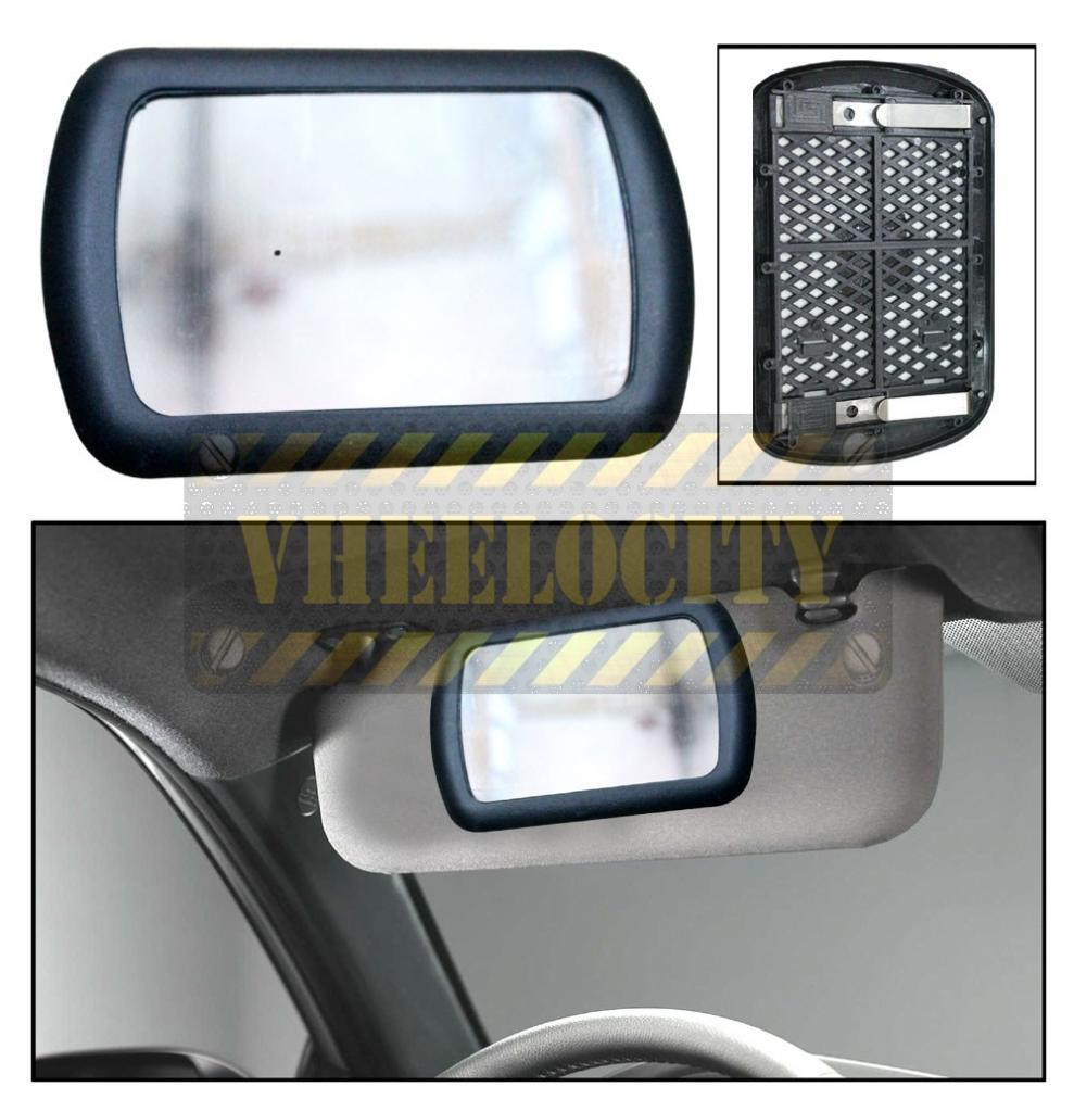 Deluxe Lighted Vanity Mirror Clip To Sun Visor : Clip On Sun Visor / Vanity Mirror For Car In India - Shopclues Online