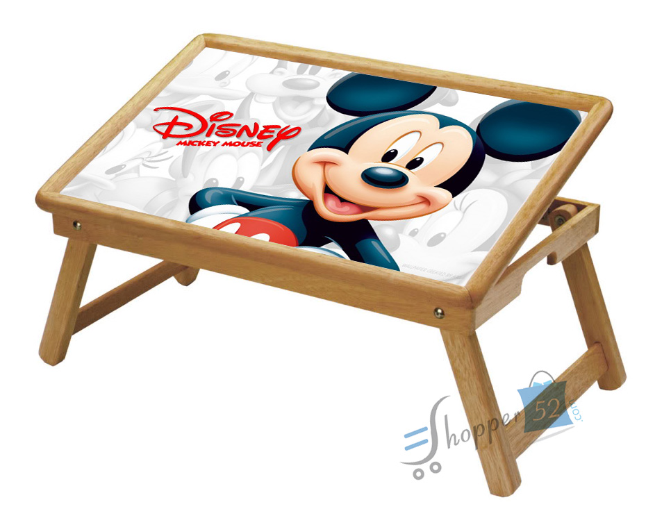 Mickey Mouse Multipurpose Foldable Wooden Study Table For