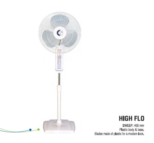 Crompton Greaves 400mm High Flow Wave Pedestal Fan (OSC)