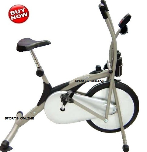 Branded exercise fitness deluxe cycle air bike dual action