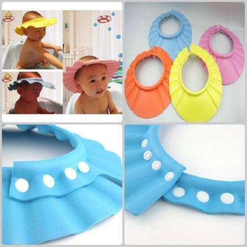 soft elastic baby shower cap shield from shampoo 4r kids protection