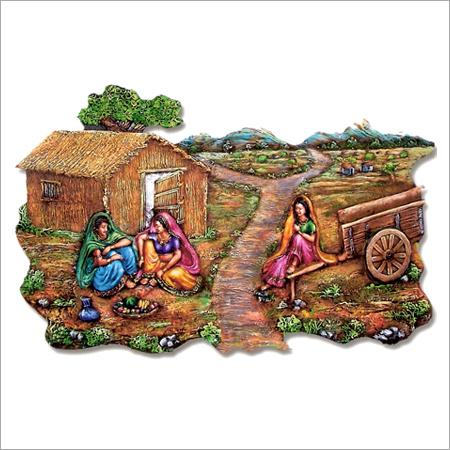 Rajasthani art 2 3d mural at best prices shopclues for 3d mural art