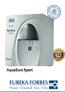 Eureka Forbes Aquasure Xpert RO+UV+UF with TDS Regulator
