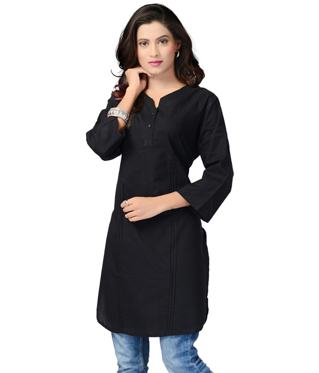 Black cotten kurti Prices in India- Shopclues- Online ...