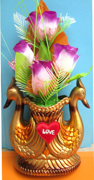Fancy peacock flower pot for Fancy flower pots
