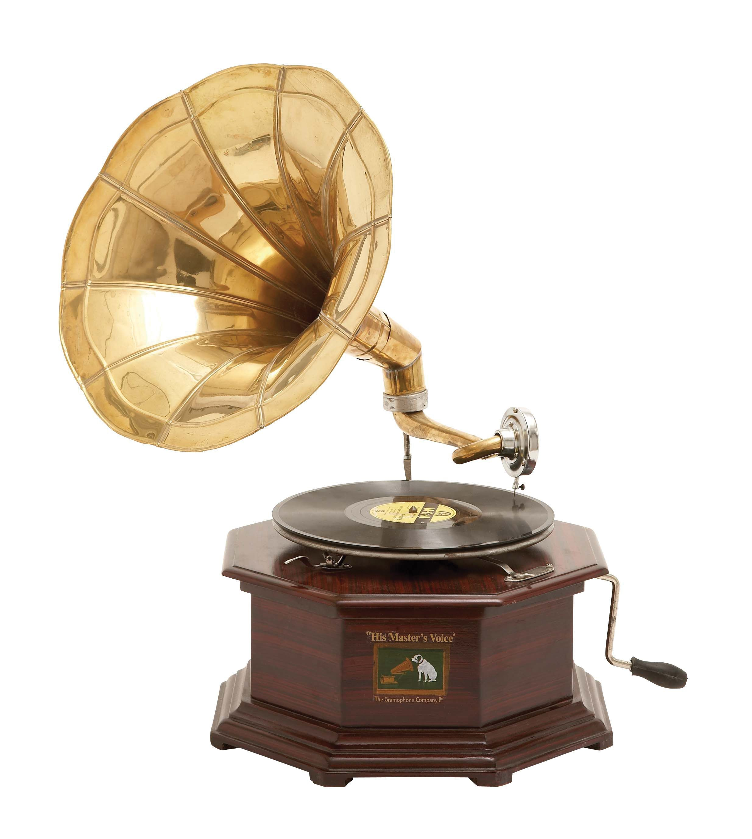 Football Home Decor Antique Look Gramophone