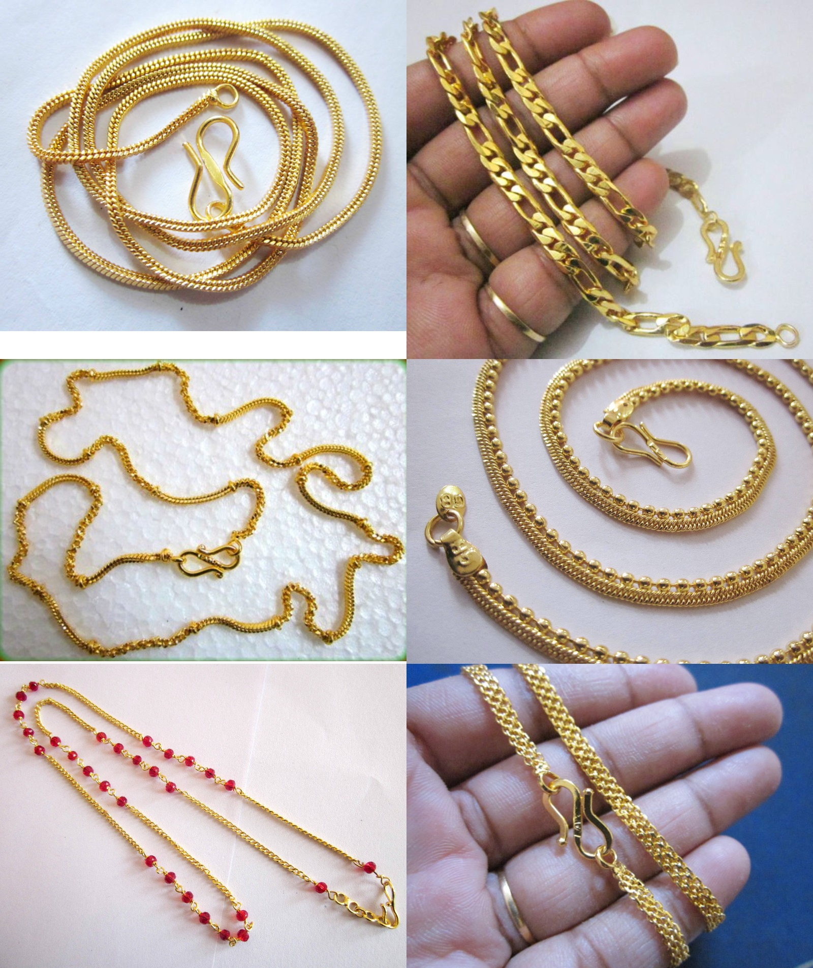 Set Of 6 One Gram Gold Chain For Both Men amp Women Gorgeous