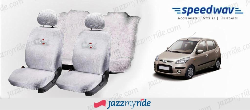 Speedwav Cool Pure White Towel Seat Cover Hyundai I10
