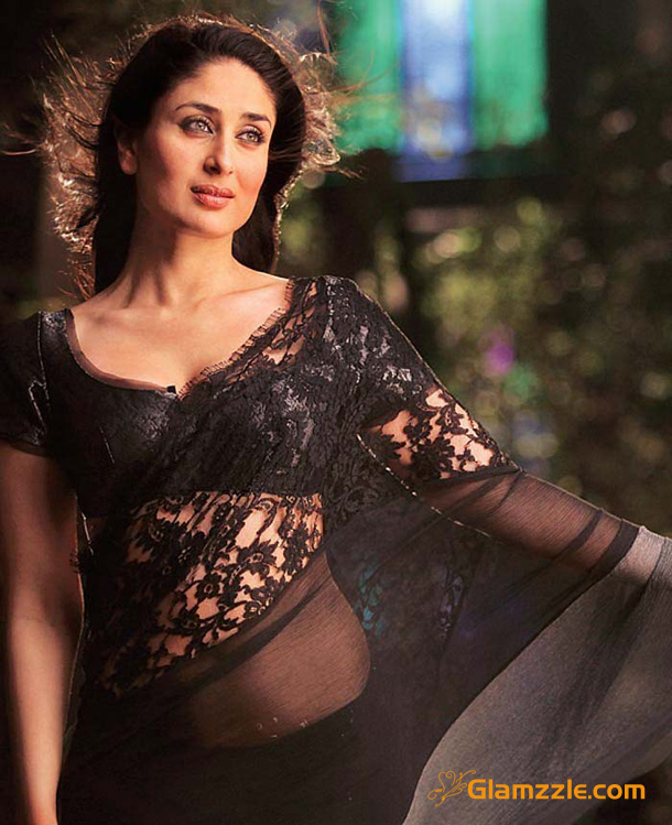 Kareena kapoor black saree for Homedigine