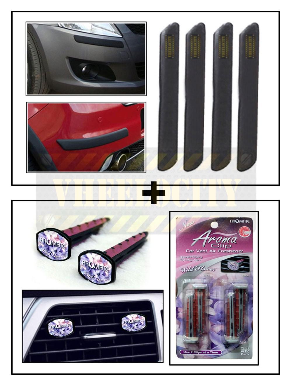 Car universal bumper guard for small cars vent clip ac vent car air freshener perfume