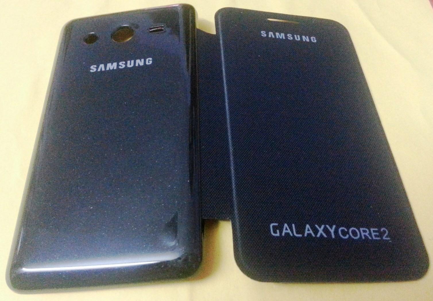 samsung galaxy core 2 flip cover original