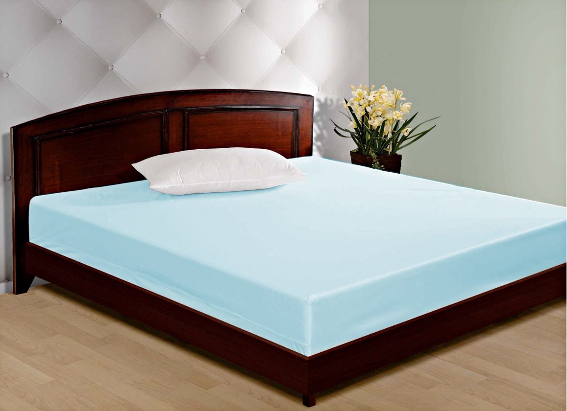 Shop spellbind plain double bed mattress protector cover for Bedroom cot designs