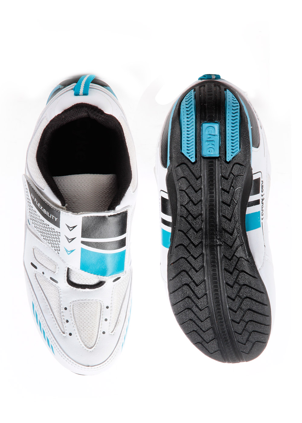 Cyke Strapy White & Blue Sports Shoe