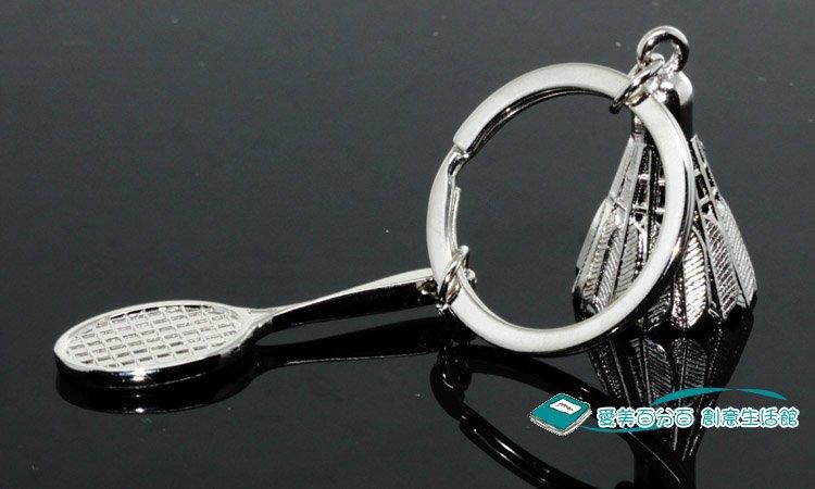 BADMINTON SHUTTLE COCK Key Chain metallic keychain car bike, key ring keyring