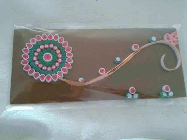 Designer quilling handmade money envelope prices in india for Craft supplies online india cash on delivery