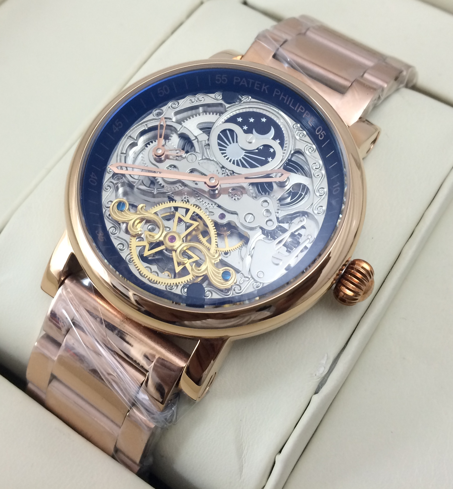 Patek Philippe Geneve Moonphase Skeleton Swiss Watch Best Deals With Price Comparison Online