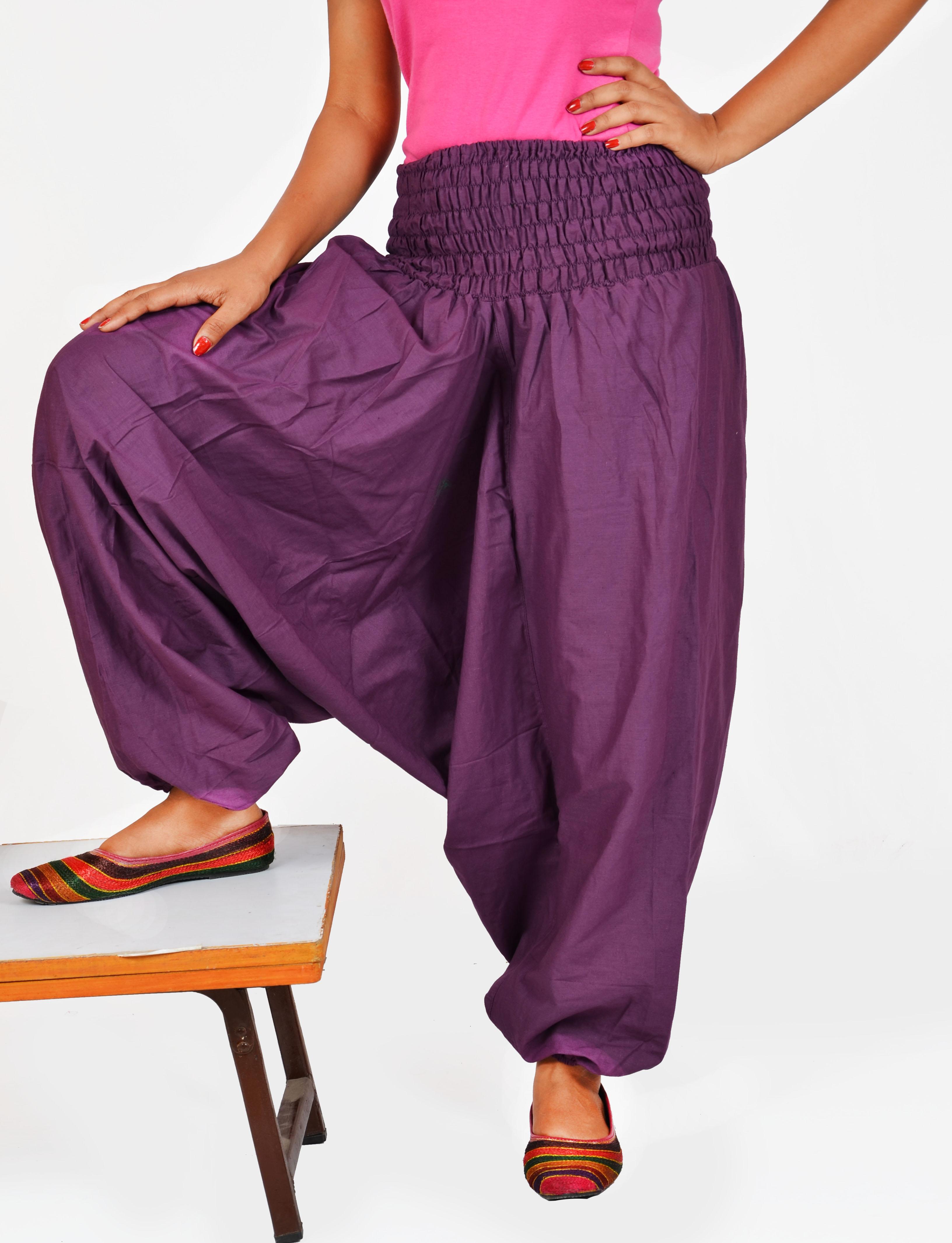 Indian Women's Girl's Burgundy Color Cotton Harem Pants Trouser