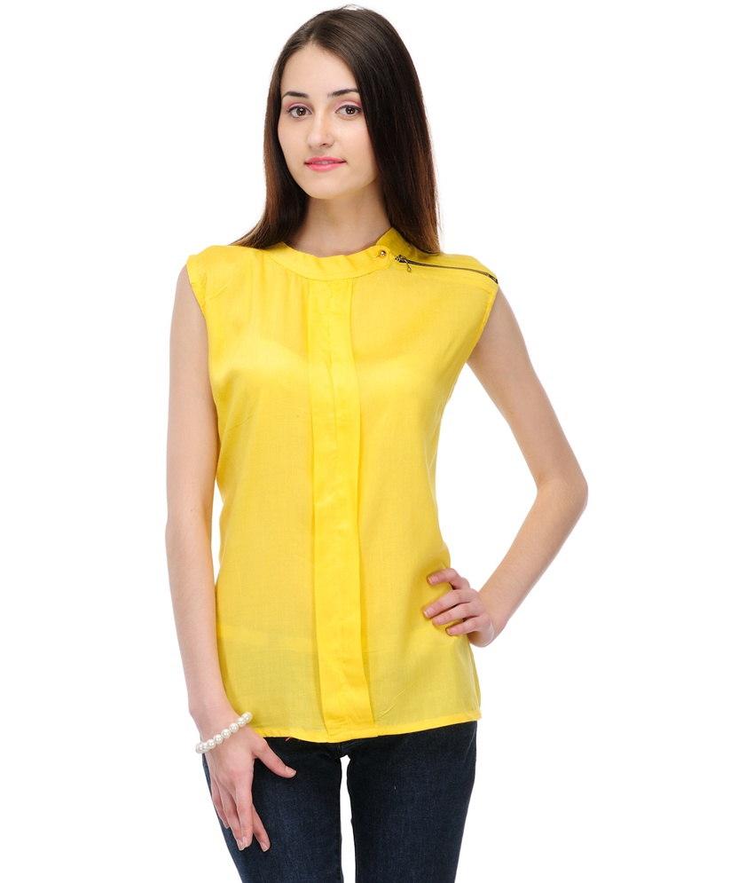 Yellow tops online shopping