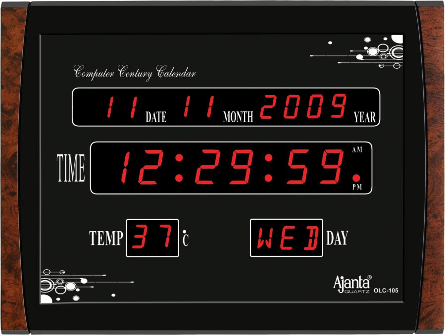 Ajanta Led Digital Wall Clock Olc 105: digital led wall clock