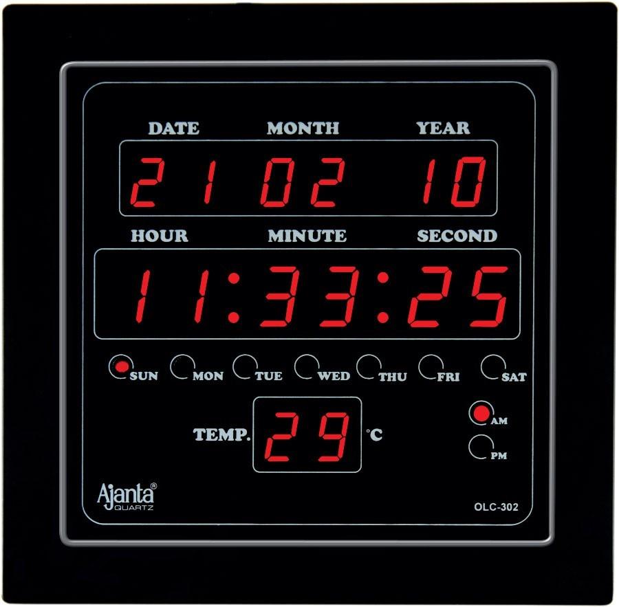 Ajanta Led Digital Wall Clock Olc 302: digital led wall clock