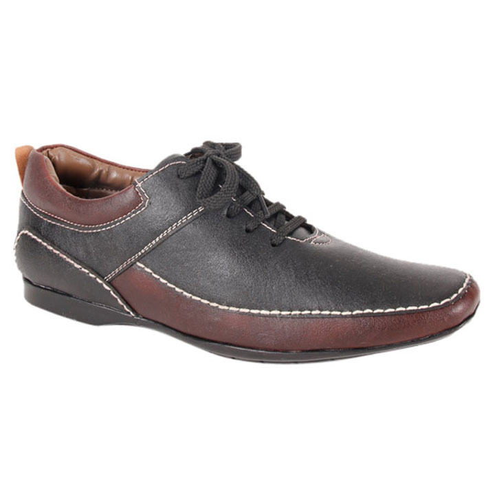 Bacca Bucci Black & Brown Casual Shoes