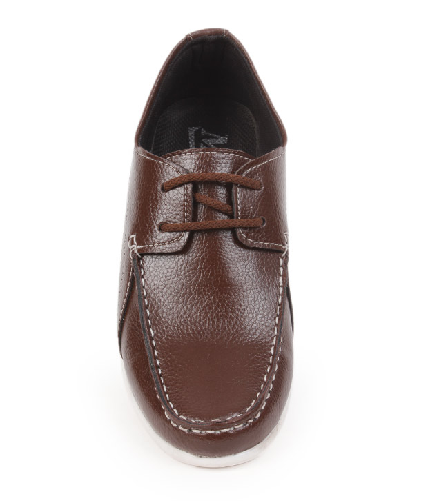 Bacca Bucci Dark Brown Tan Derby Shoes