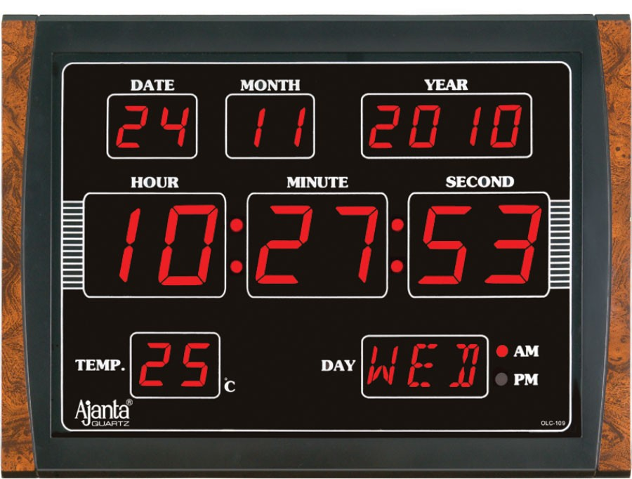 Digital wall clocks online for Led digital wall clock in india