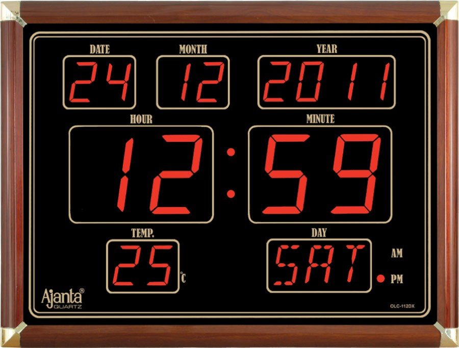 ajanta led digital wall clock olc 112 dx
