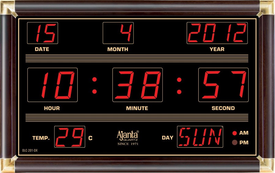 Ajanta Led Digital Wall Clock Olc 201 Dx