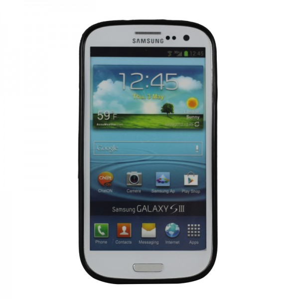 Cooling Case For Samsung Galaxy S3 : Cool soft silicone tpu black back cover case for samsung