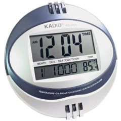 Kadio KD-3806 Digital Wall / Desk Clock with Temperature
